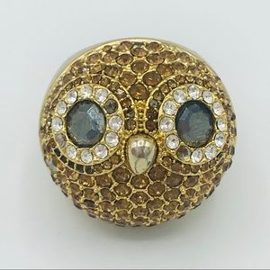 FOSSIL OWL STAYEMENT RING